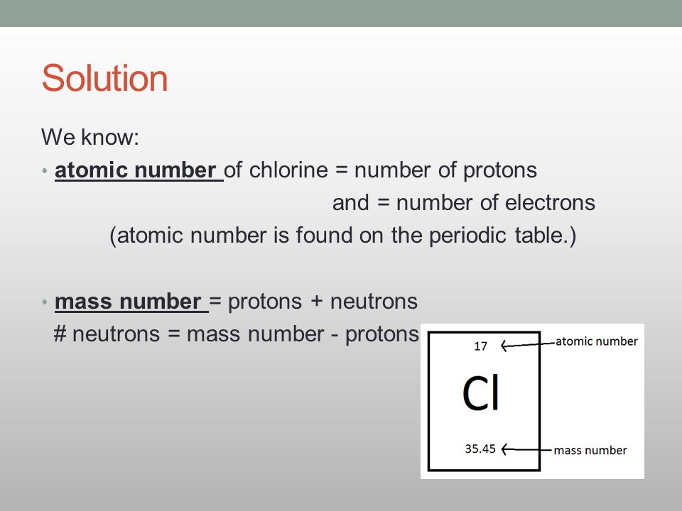 33 counting atoms how do i count and calculate the mass of atoms solution we know atomic number of chlorine number of protons urtaz Choice Image