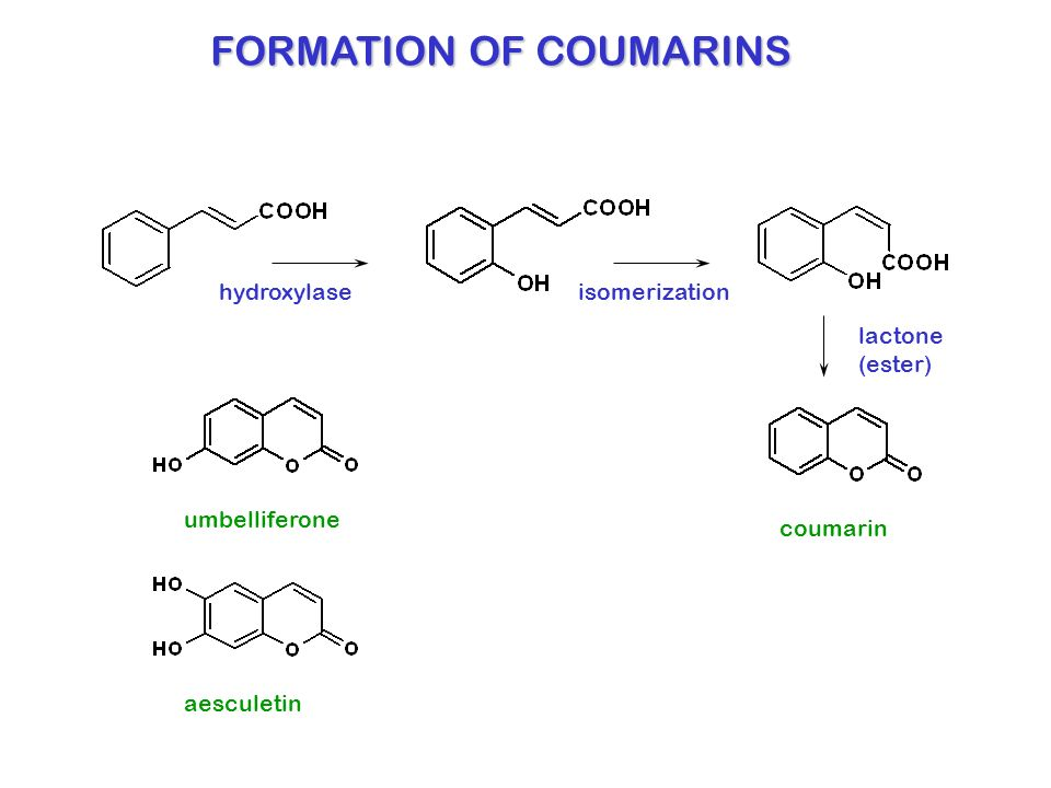 FORMATION OF COUMARINS