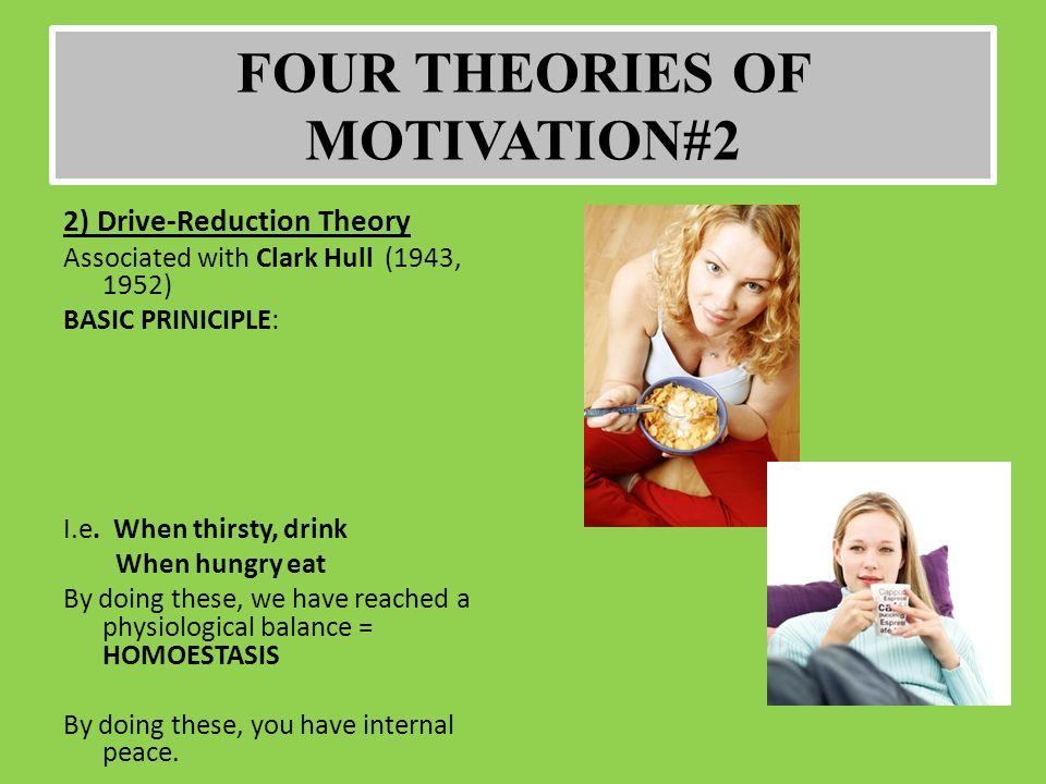 four theories of motivation The present paper is an attempt to formulate a positive theory of motivation which   and gestalt psychology, and with the dynamicism of freud (4) and adler (1.