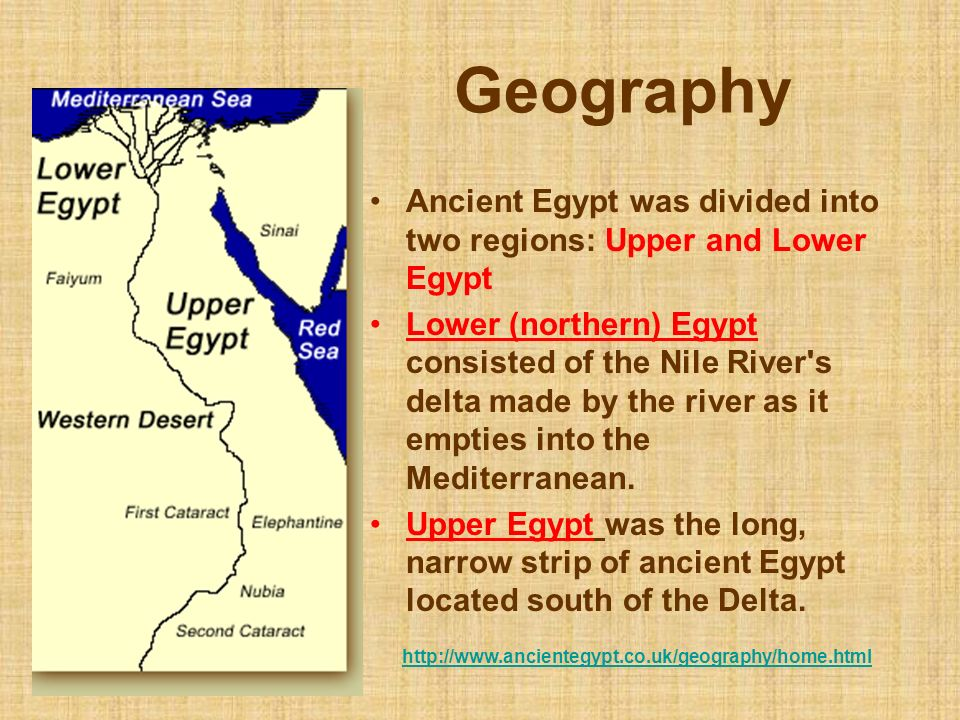 An overview of the ancient history of egypt
