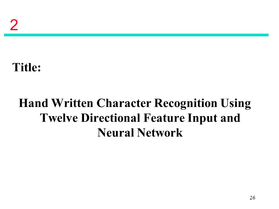 character recognition using neural networks thesis Urdu optical character recognition using neural networks submitted by: zaheer ahmad (ms-it session 2006-08) a thesis submitted in partial fulfillment of the requirement for the degree of master of science in information technology (ms-it.
