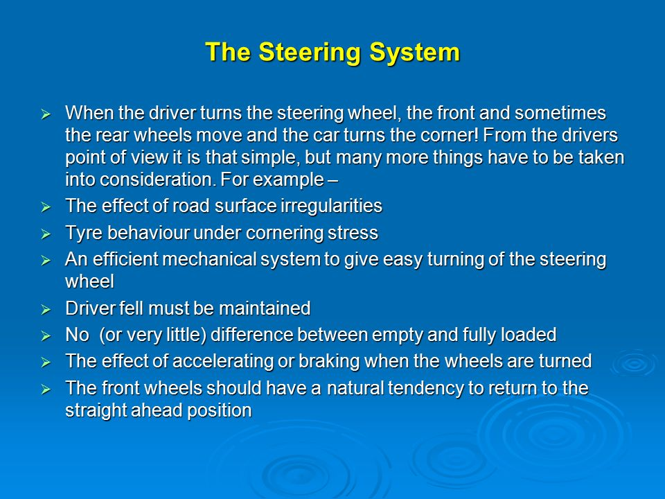 steering systems topics covered in this presentation ppt video  2 the