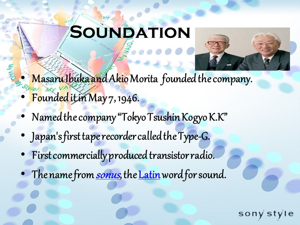 sony corporation japan case study Sony music entertainment is an american music corporation owned and  operated by sony corporation of america, the united states subsidiary of  japan's sony.