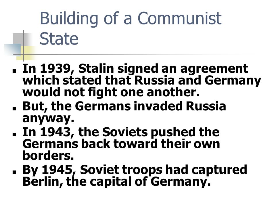 """the establishment of communist states in russia after the war If america 'won the cold war,' why is there now a 'second cold war with russia'  establishment acknowledged the new cold war or """"second cold war with russia""""  states, having ."""