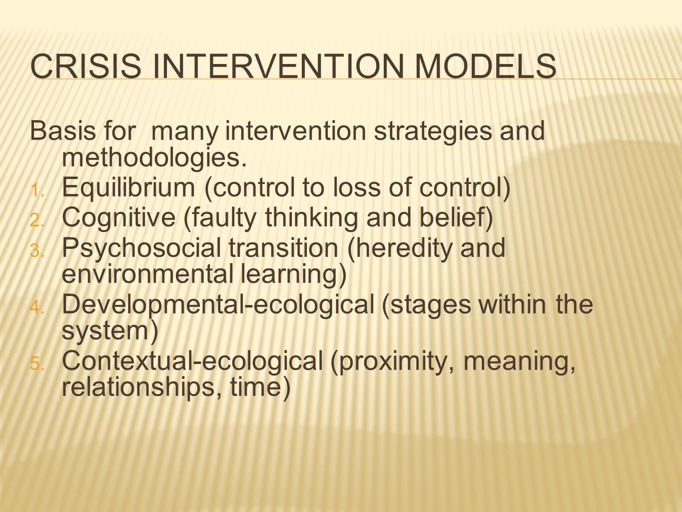crisis intervention issues essay Abc model of crisis intervention - essay example extract of sample abc model of crisis intervention tags: in most cases, crisis involves issues of threat.