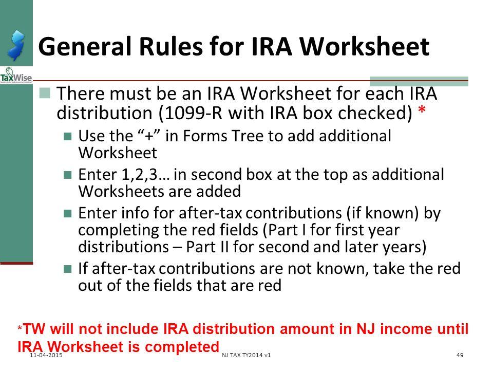 Worksheets Ira Information Worksheet pub 17 chapter 10 11 4012 tab d 1040 line 16 ppt download general rules for ira worksheet