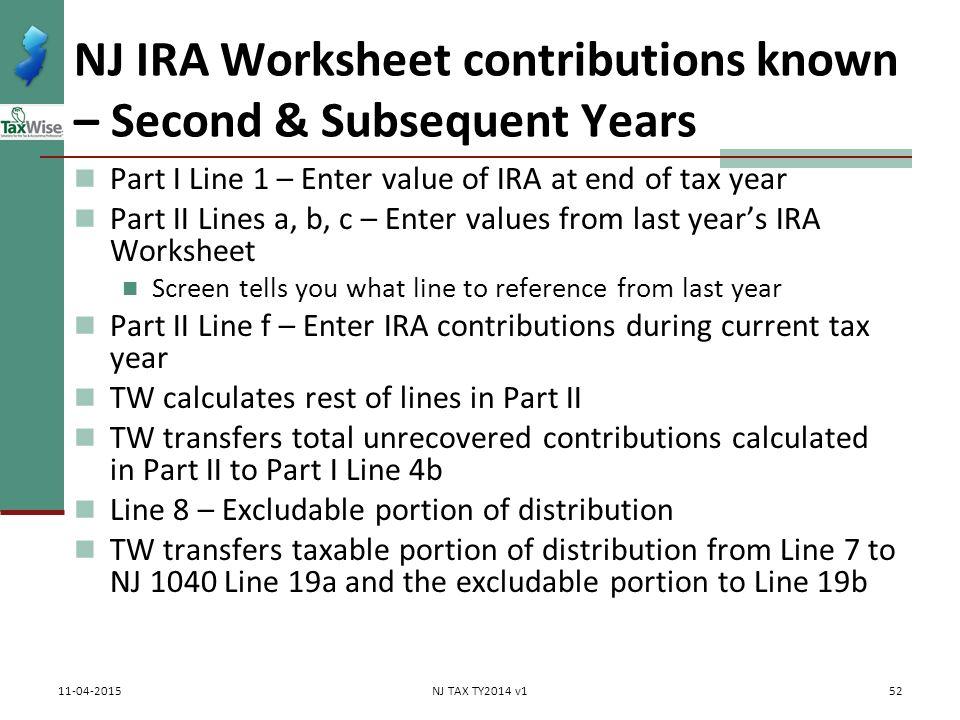 Pub 17 Chapter 10 11 Pub 4012 Tab D 1040Line 16 ppt download – Ira Worksheet