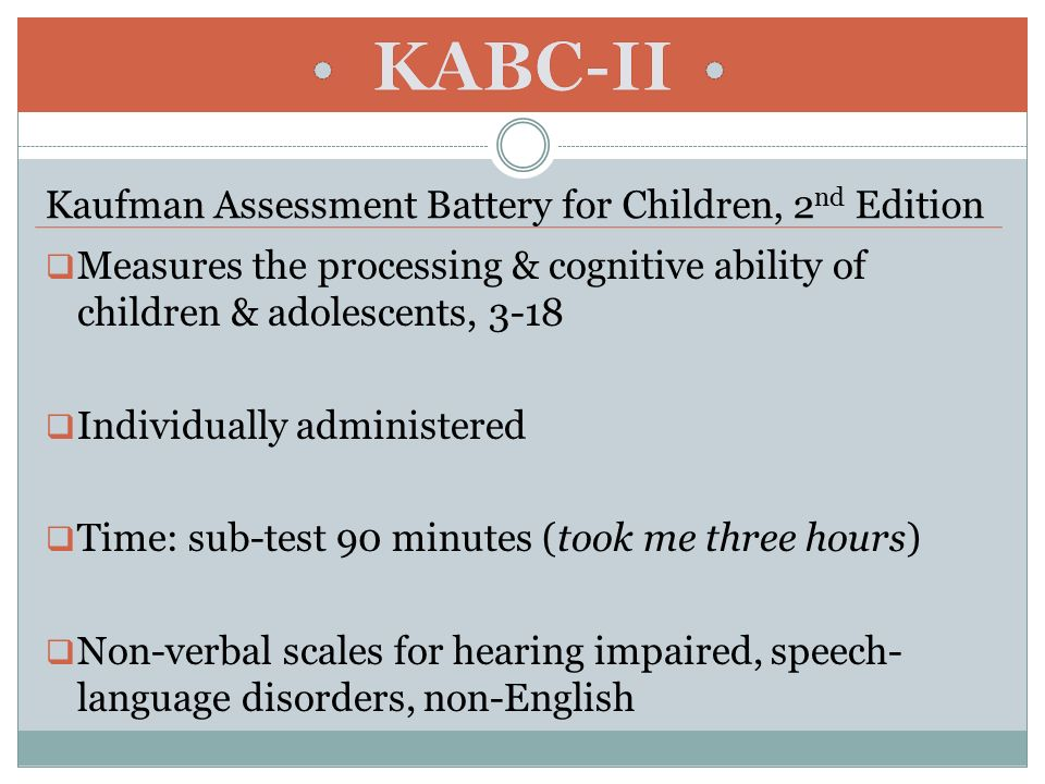 Assessment of Nonverbal Cognitive Ability - ppt download
