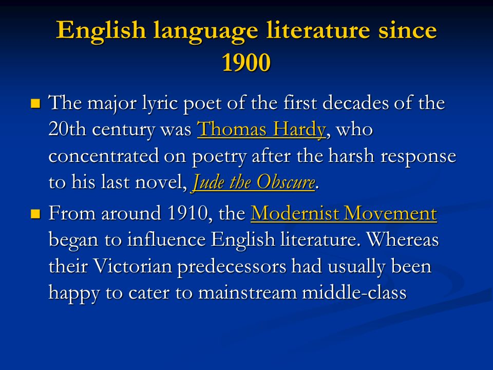 20th century english literature 19th century (romantics & victorian) victorian web sites 20th century  your  suggestion of any useful sites related to english literature.