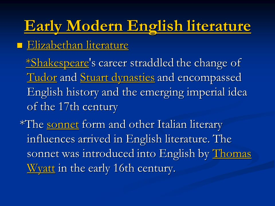 trends in modern english literature Welcome to penn state english  faculty in contemporary literature and culture teach graduate seminars in such latino/a culture and literature  modern.