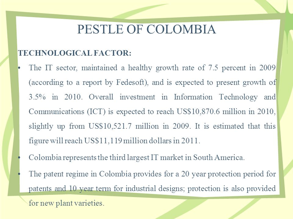 pestle colombia