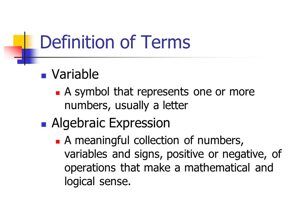 mathematical term evaluate Read chapter 6 evaluating mathematics assessment: to achieve national goals for education, we must measure the things that really count  the national academies press doi: 1017226/2235  the term alignment is often used to characterize the congruence that must exist between an assessment and the curriculum alignment should be looked at.