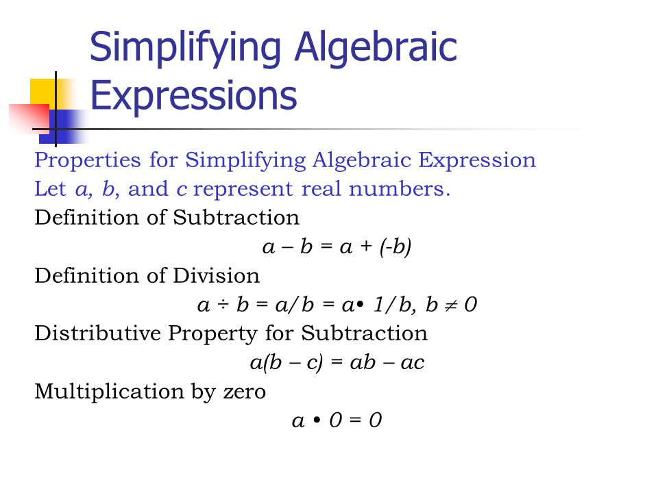 Algebraic Expressions ppt video online download – Simplifying Algebraic Expressions Worksheet