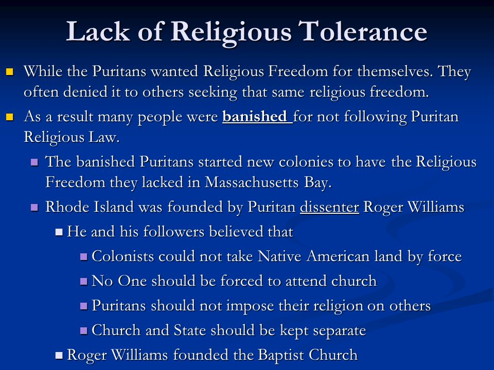 religious freedom and the puritans in united states Quakers fight for religious freedom in puritan massachusetts, 1656-1661  united states   the first known quakers to arrive in boston and challenge puritan .