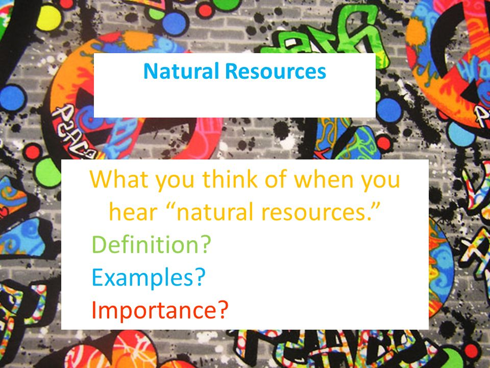 definition of natural resources pdf