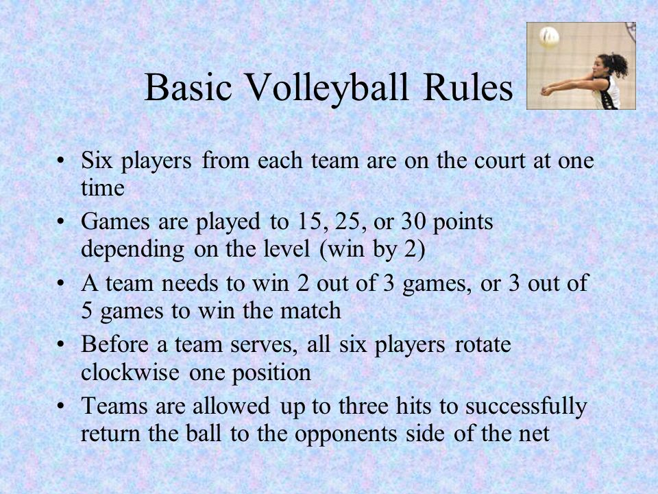 volleyball rules Volleyball: office of intramural sports at indiana university-purdue university fort wayne.