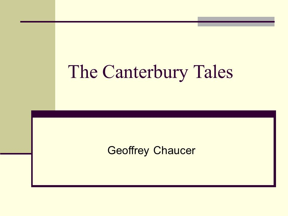 the medieval christian church in the canterbury tales by geoffrey chaucer Geoffrey chaucer, the canterbury tales (the general  so his character is one example of how chaucer loves to critique the rampant corruption of the medieval church.