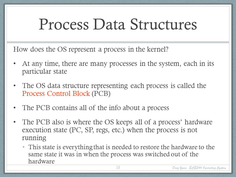 Operating Systems ECE344 Lecture 3: Processes Ding Yuan. - ppt download
