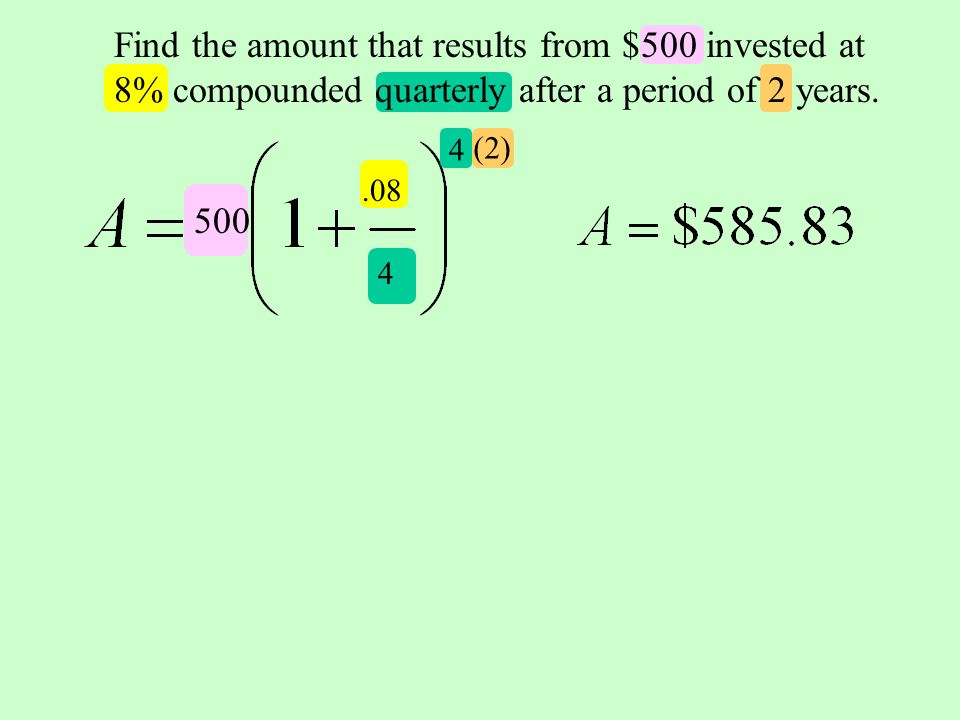 how to find compound interest quarterly