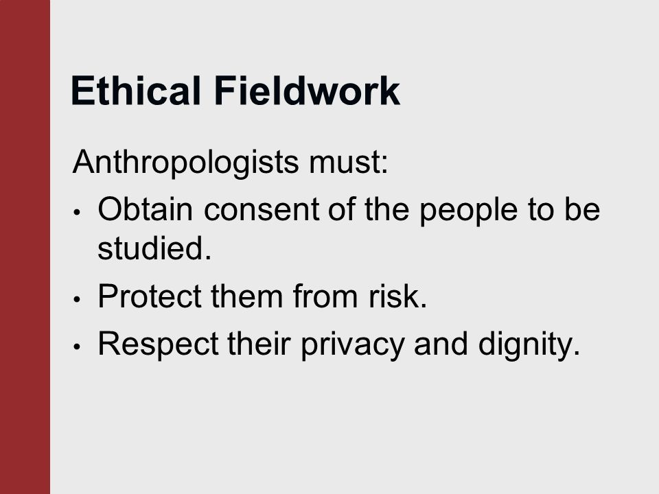 anthropologists moral obligations Ethics in anthropology: the obligations to the other fields with the intent to assure clients of the technical and moral quality of the service.