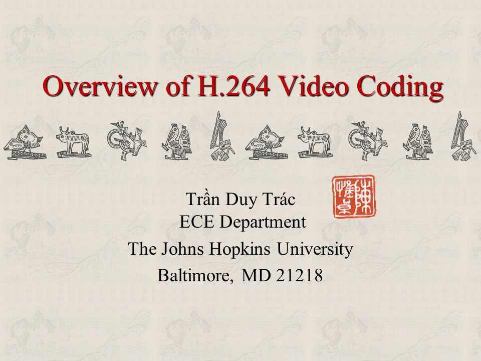 Overview of H.264 Video Coding