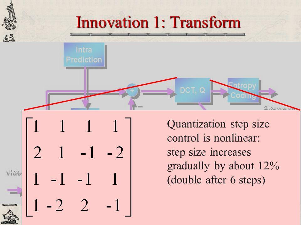 Innovation 1: Transform