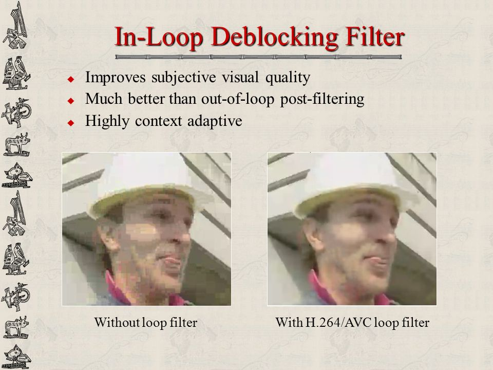 In-Loop Deblocking Filter