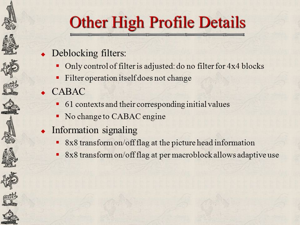 Other High Profile Details