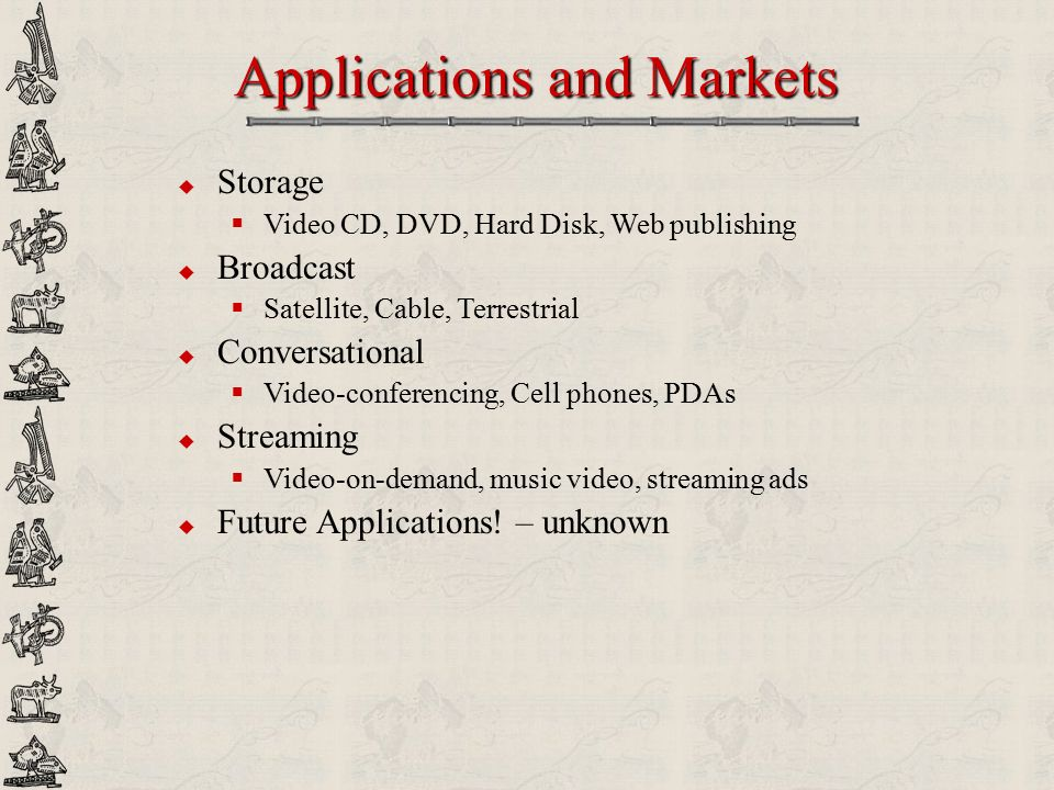 Applications and Markets