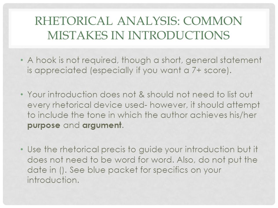 Rhetorical Analysis Essay  Ppt Download