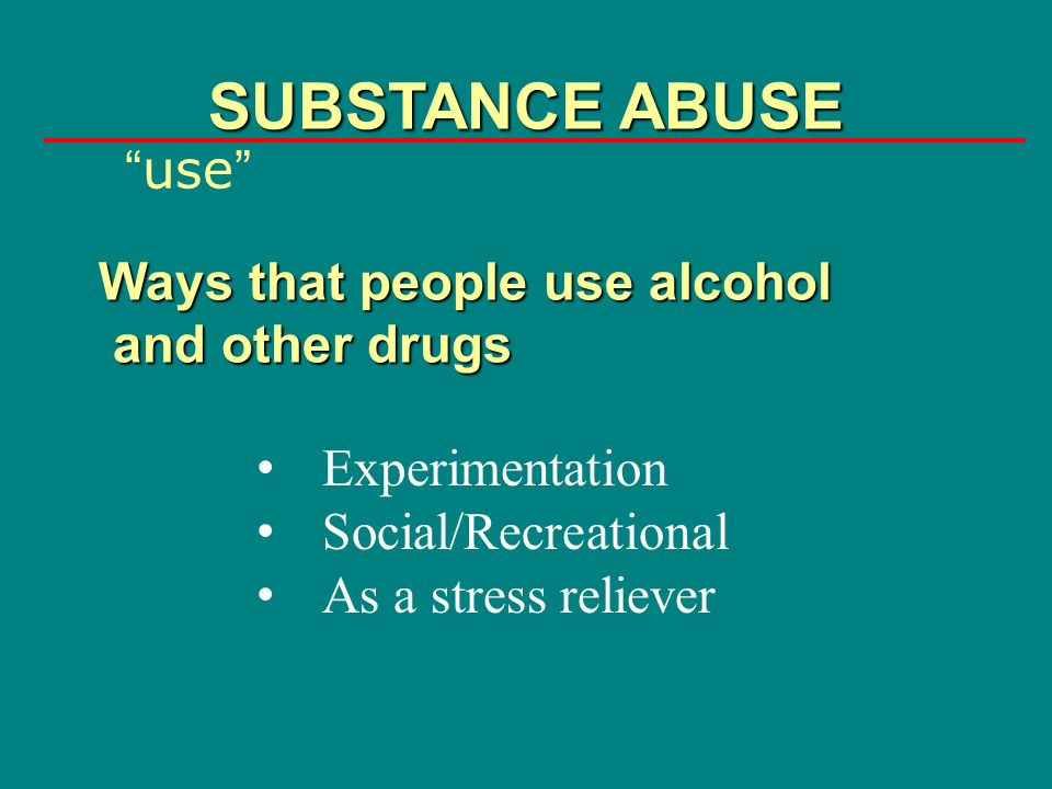 the problem of alcohol abuse as recreational drug Binge drinking, prescription drug abuse and recreational drug use are all common problems on college campuses.