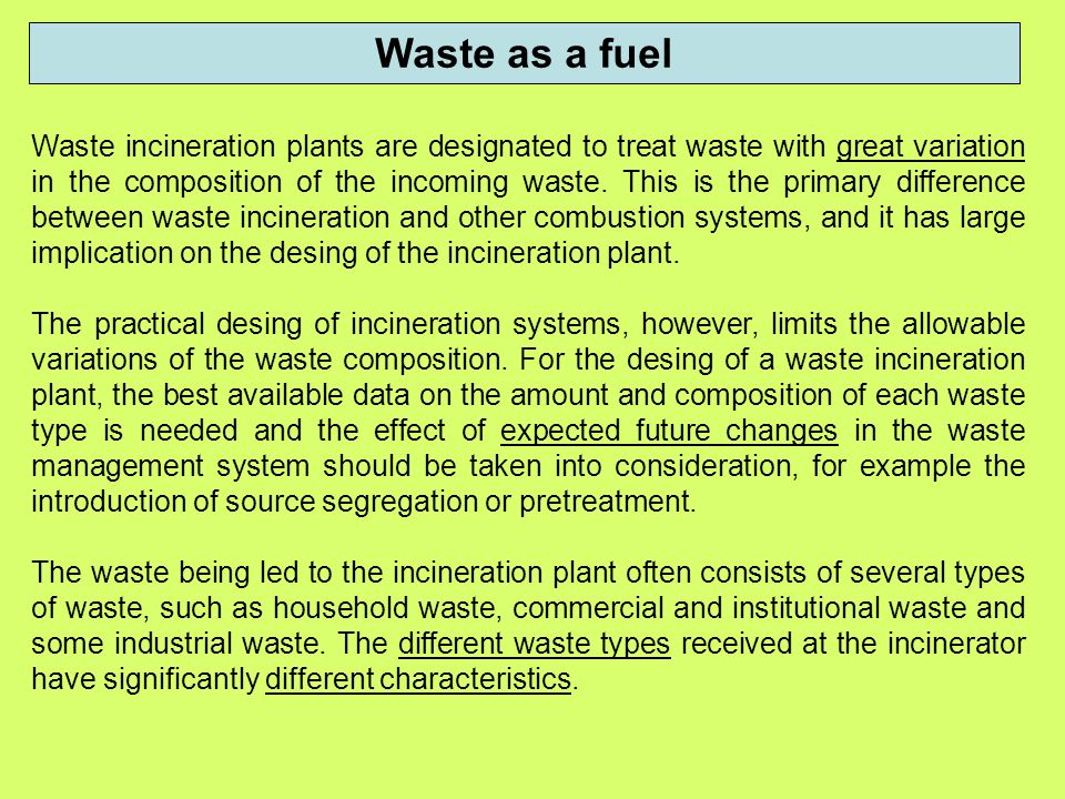 Thermal treatment of waste