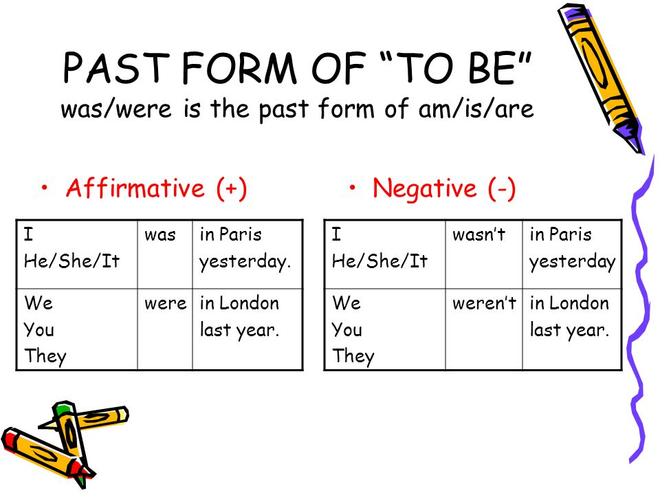 """PAST FORM OF """"TO BE"""" WAS / WERE. - ppt video online download"""