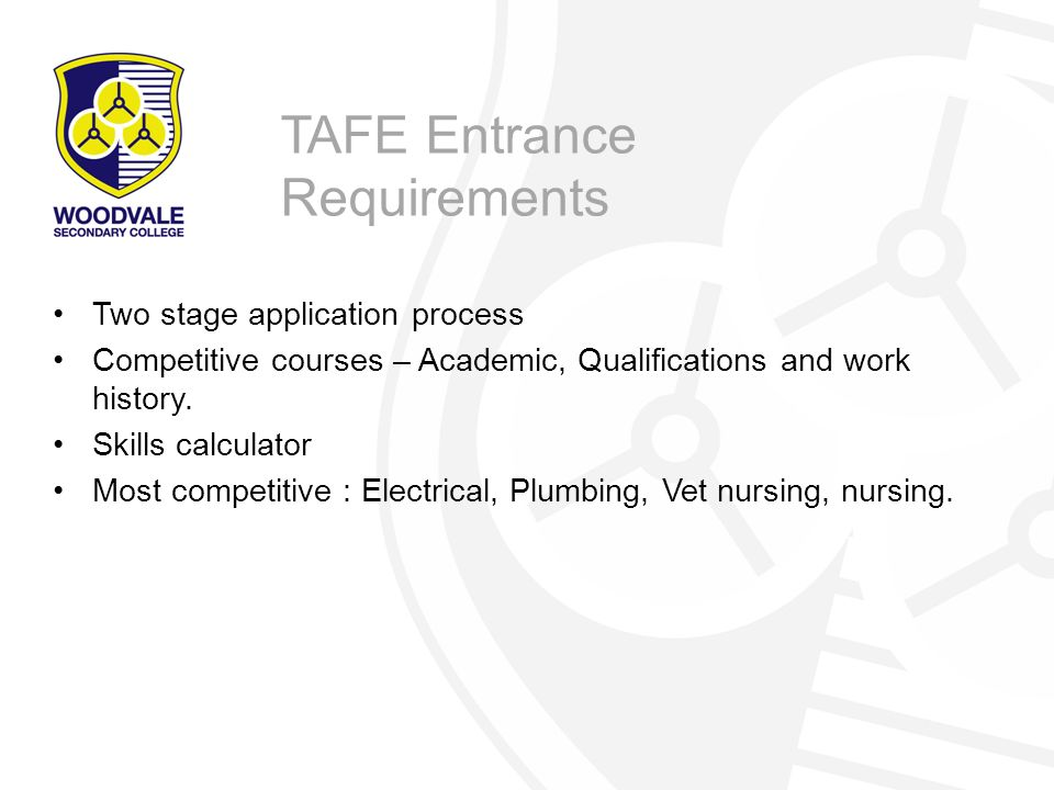 TAFE Entrance Requirements