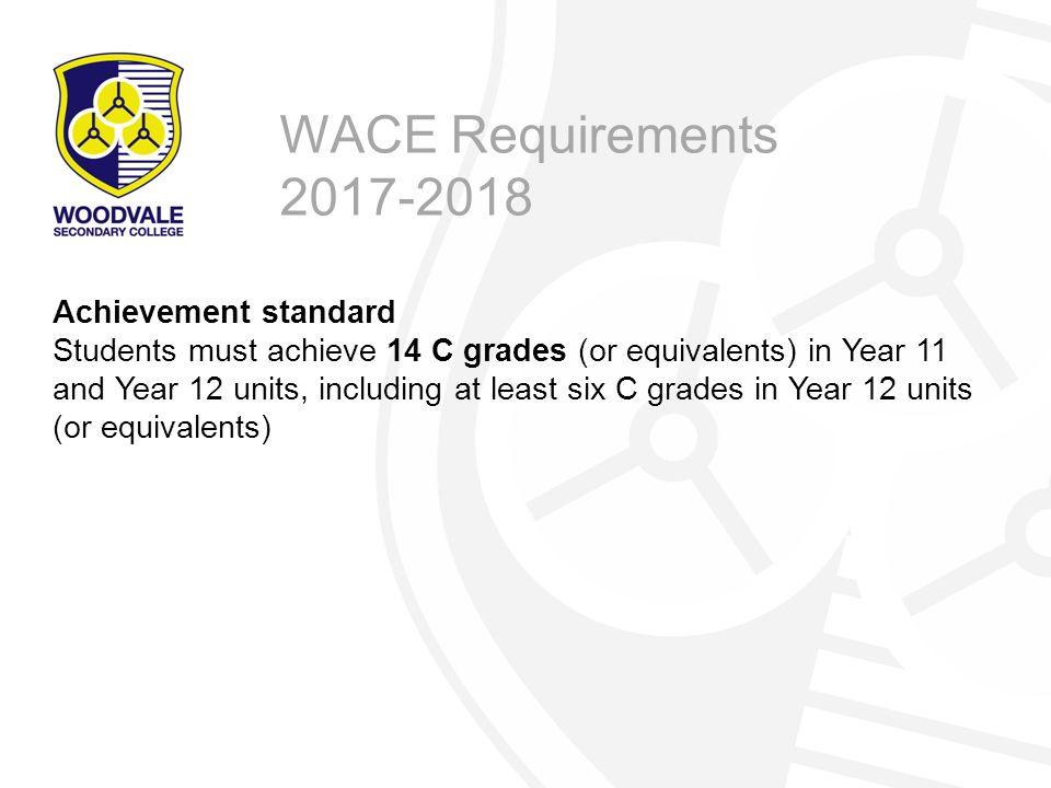 WACE Requirements 2017-2018 Achievement standard