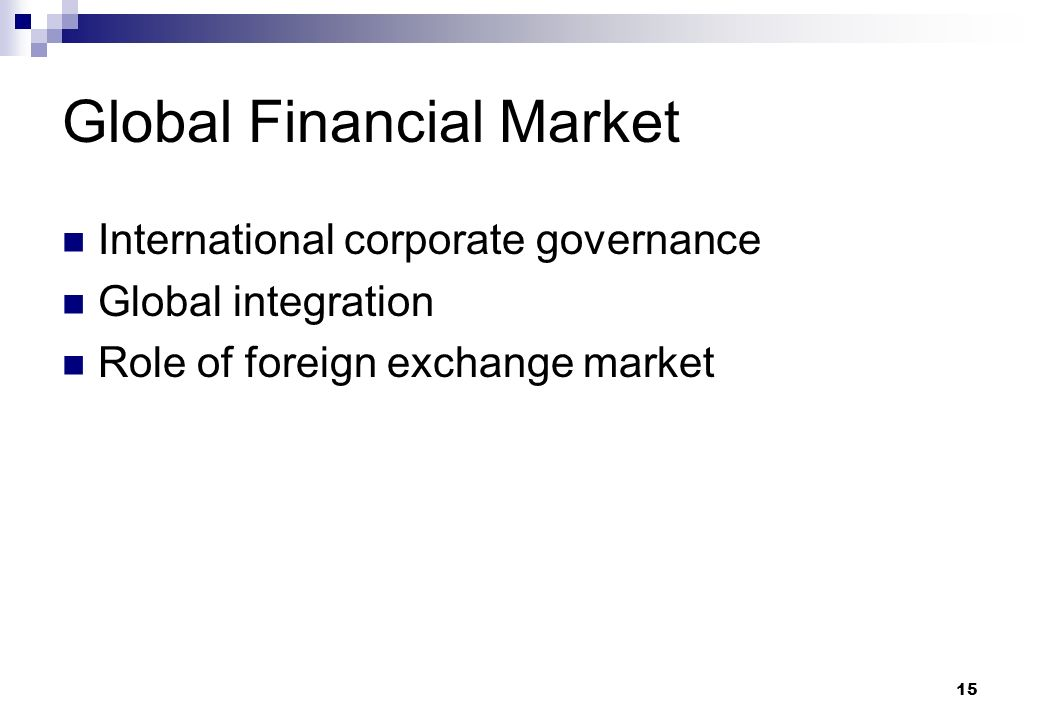 Role of international finance institutions