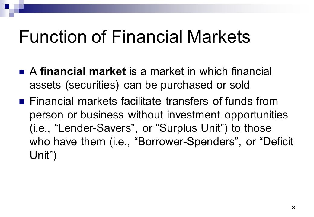 role of financial markets in a Advanced finance and financial markets know-how  knowledge of the role of a modern debt  the core competence of the middle office is the design.