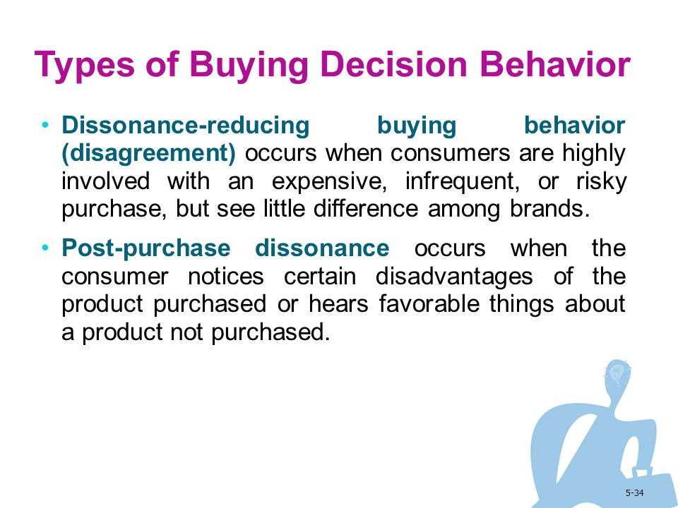 types of buying decision behavior Did you know a consumer decision-making differs with the type of buying decision they need to make yes there would be a lot of difference in the buying behaviour of a person when he\she would be purchasing toothpaste or a new car.
