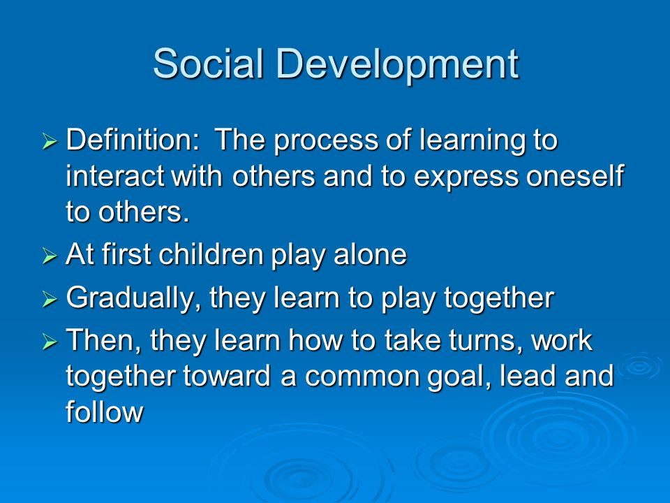the process and importance of social development Social and economic empowerment social empowerment is understood as the process of developing a sense women', governance and social development.