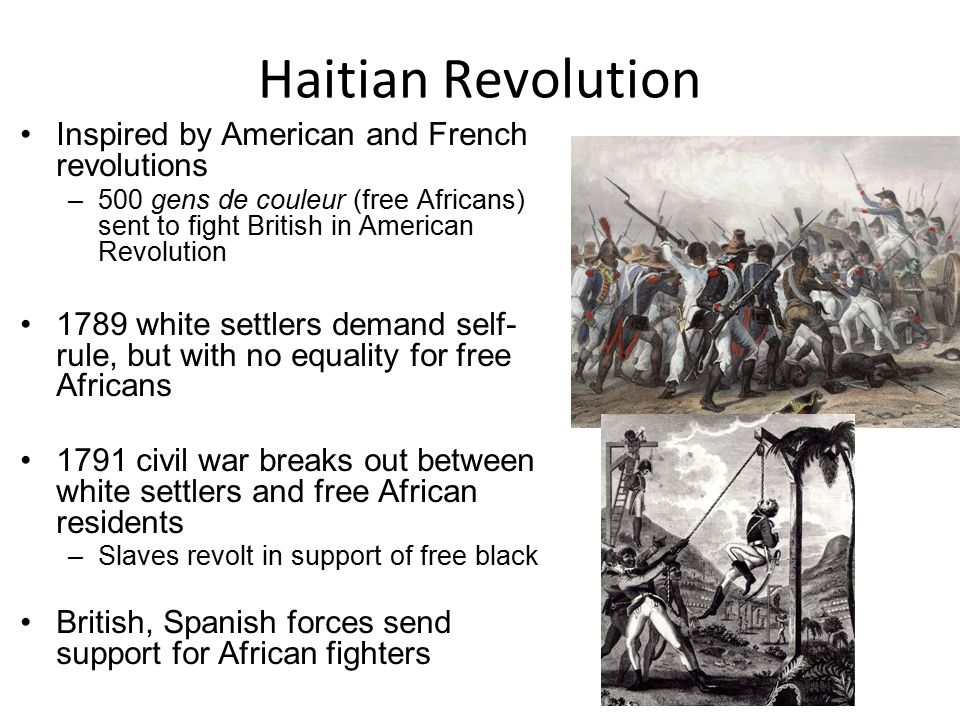the us bill of rights and the haitian revolution United states and the haitian revolution with the united states' own revolution for the rights of black men, and the american reaction to the.