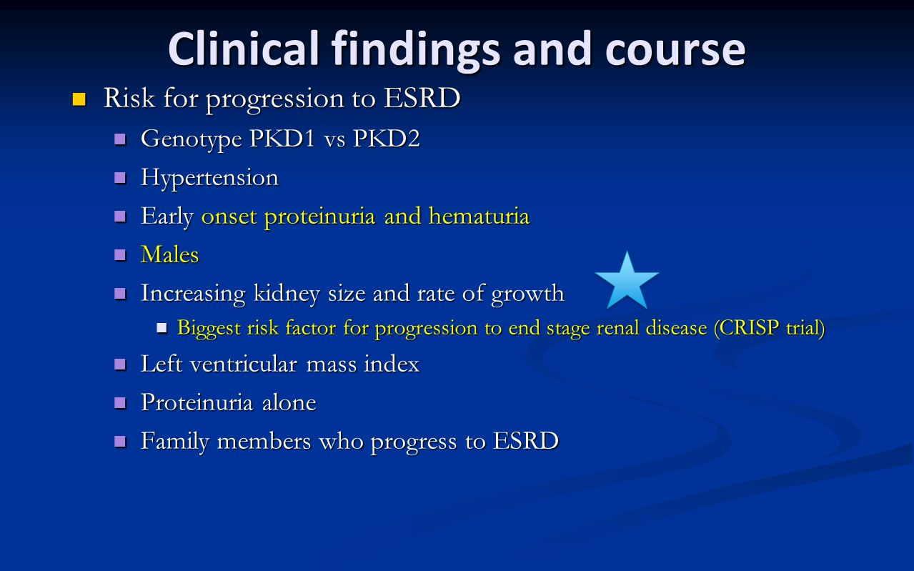 Clinical findings and course