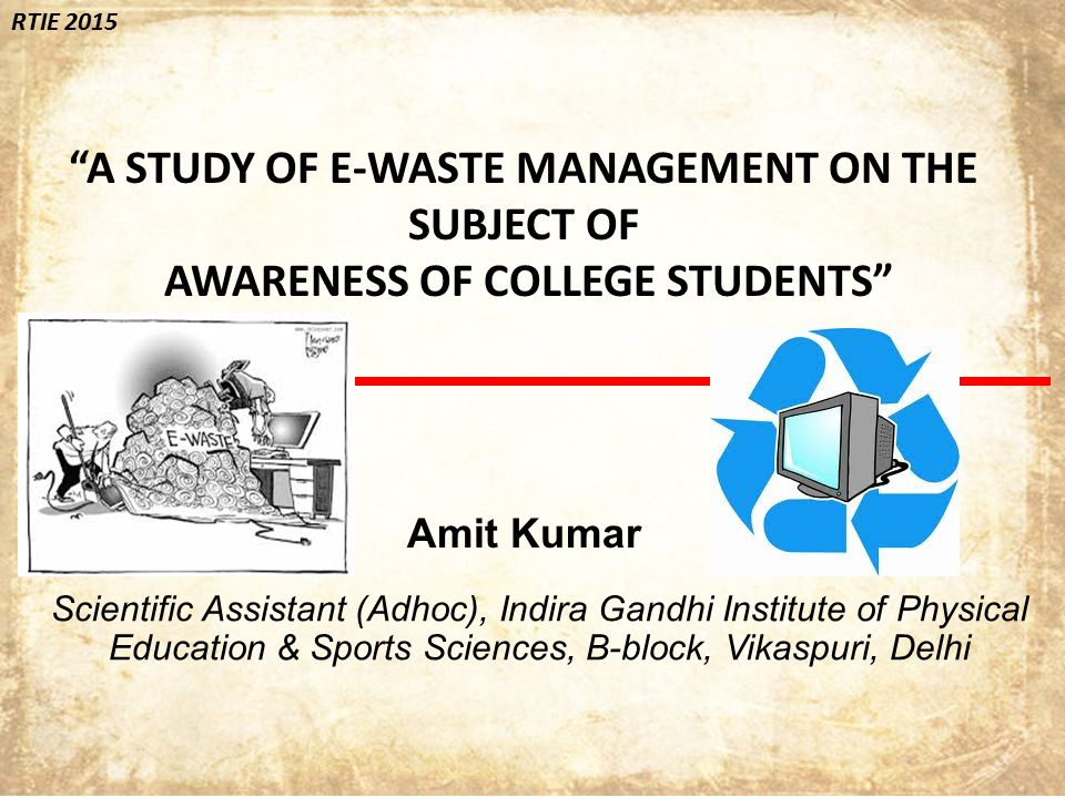 a study of e waste management on the subject of ppt video online  a study of e waste management on the subject of