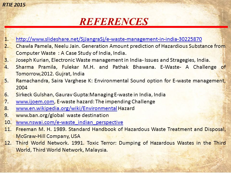 e-waste management in india: issues and options essay Electronic waste addressing the future today by: ahmed shah & tanveer shaikh  • the issue at large is that because of the toxic nature of  through strict environmental guidelines on proper e‐ waste management.