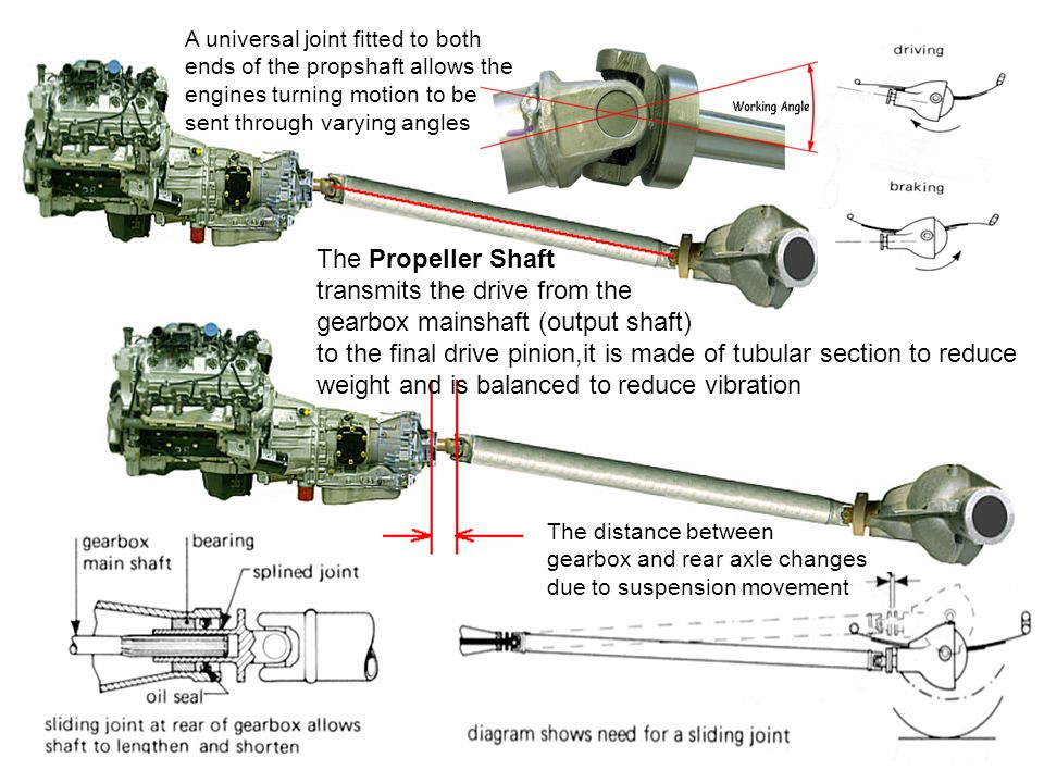 Propeller Shaft and Drive Shaft (Automobile)