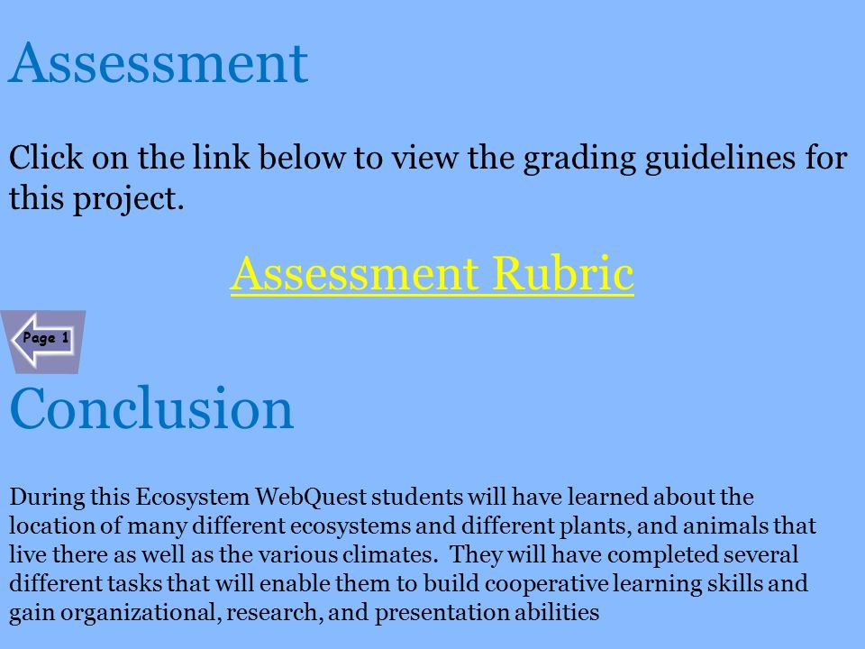 Conclusion rubric research paper