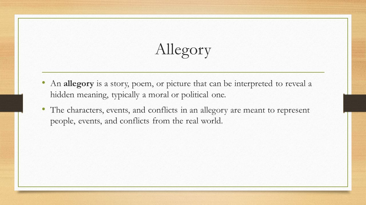 Allegories symbolism fables and idioms ppt download 2 allegory buycottarizona