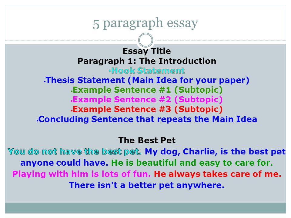Good transition words 5 paragraph essay