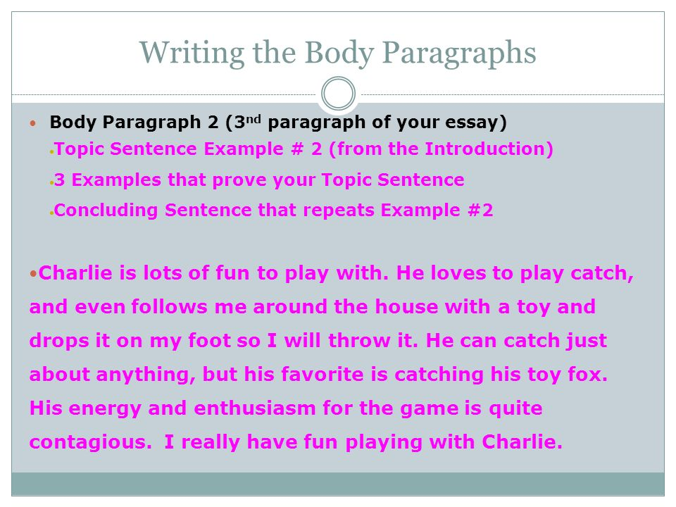 take your writing from prompt to published essay ppt video  7 writing the body paragraphs