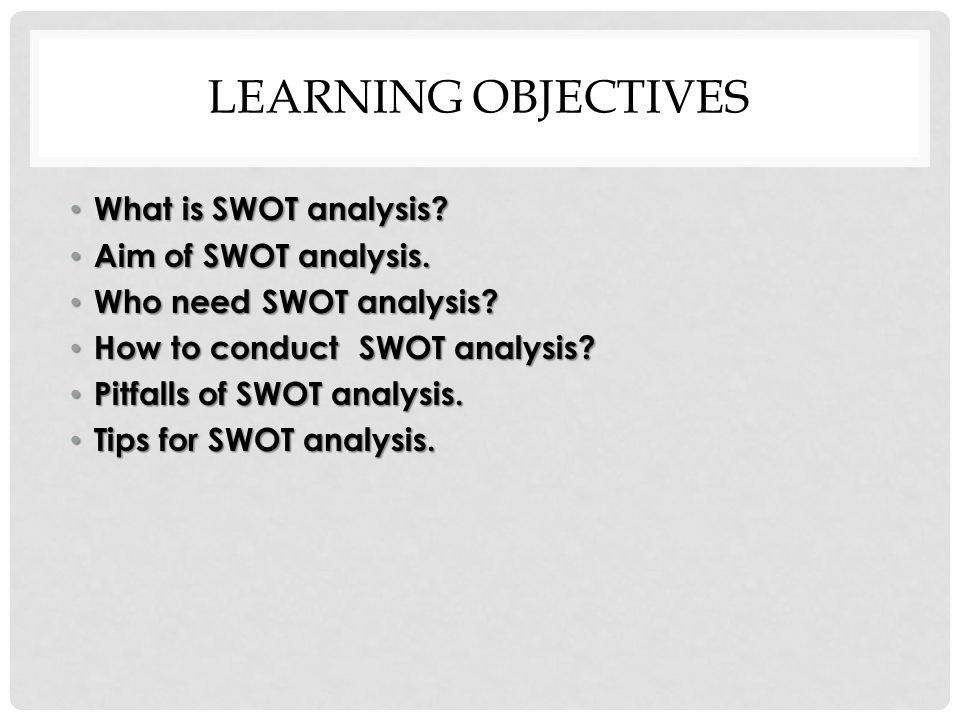 SWOT analysis (strengths, weaknesses, opportunities and threats analysis)