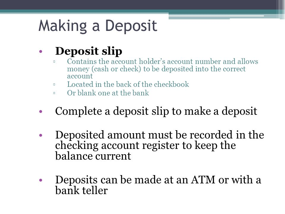 Tues sept 8 todays target ppt download making a deposit deposit slip 47 completing ccuart Image collections